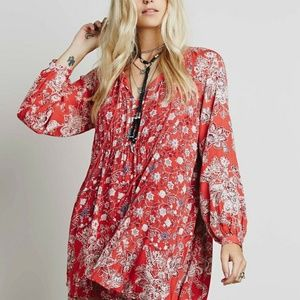 Free People S Lucky Loosie Floral Swing Dress